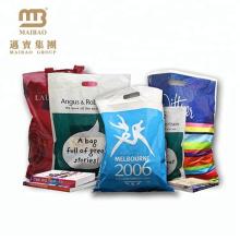 Custom Design Logo Printing PE Cheap Die Cut Patch Handle Biodegradable Shopping Plastic Bag