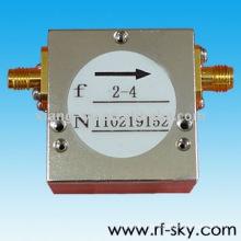 2-4 GHz Rf Broadband Isolators insertion loss 0.6dB