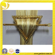 Golden Yellow Plastic Metal Clip Holder Buckle With Cut Out Design For Window Curtain