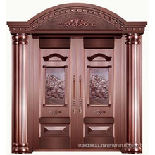 High quality luxury 100% pure copper villa main door