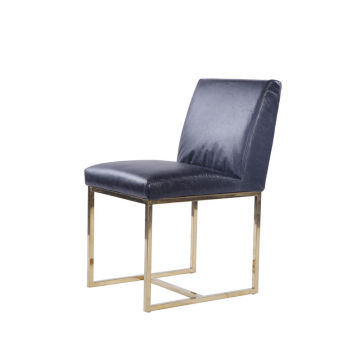 Coleção Emery Side Dining Chair Black Leather