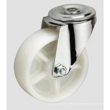 4inch industrielle Caster White PP Ball Caster ohne Bremse