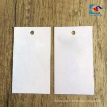 2018 vente chaude logo personnalisé luxe recyclé vêtement papier étiquette volante