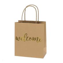Bolsos de regalo de papel de lujo de Kraft de las bolsas de papel del bolso de compras con diseño modificado para requisitos particulares oro