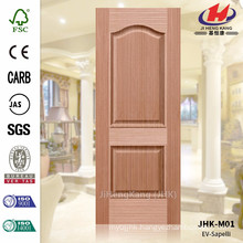 JHK-M01 Embossing Texture Straght Wood Grain Sapelli Veneer Molded Door Skin Supplier