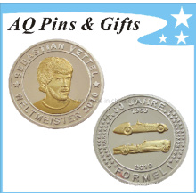 Moneda de plata esterlina con 2 tonos