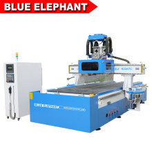Double Tool Change China Wood Working CNC Router with Boring Head for Making Furniture