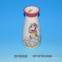 Lovely ceramic monkey flower vase