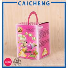 Boîtes en papier d'emballage d'emballage de nourriture colorées pleines pour la sucrerie de biscuit