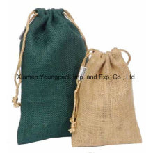 Promotional Custom Small Drawstring Jute Carry Pouch