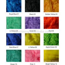 Viscose Staple Fiber color dyed fast shipment, little order acceptable