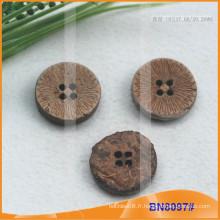 Boutons de noix de coco naturels pour le vêtement BN8097