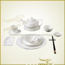 11 PCS teñido de vajilla de cerámica Líneas de piedra de platino Set