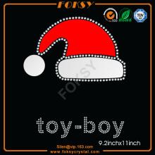 Sombrero de navidad de juguete rhinestone patrones