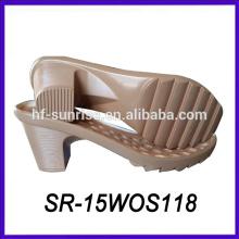 Pu diseño alto talón único zapato único diseño zapato único fabricantes