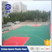Pavimento de esportes ao ar livre do bloqueio Pavimento de intertravamento do material de PP