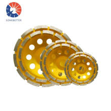125mm waved spiral diamond grinding disc,cup wheel for concrete floor iron base turbo cup wheel abrasive polishing grinder