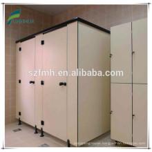 Public Toilet partition includes divider /toilet door / Pilaster