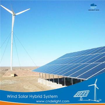 Système hybride solaire pour éolienne à aimant permanent DELIGHT