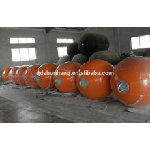 polyurea covered foam filled marine floating ball