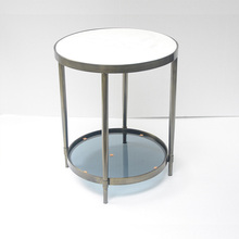 Round Marble Coffee Table With Double-desk