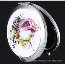 Popular China Embroider Cloth Make up Mirror as Promotional Gift
