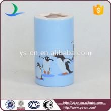 YSb40092-02-th Porta-cepillo de cerámica de estilo clásico con diseño de grano