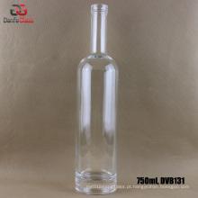 750ml garrafa de vidro branco extra com acabamento Bartop
