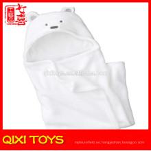 Mantas de bebé 100% algodón manta llanura algodón blanco