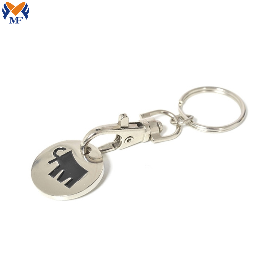 Keyring With Trolley Coin
