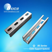 Solar panel strut channel cable tray support
