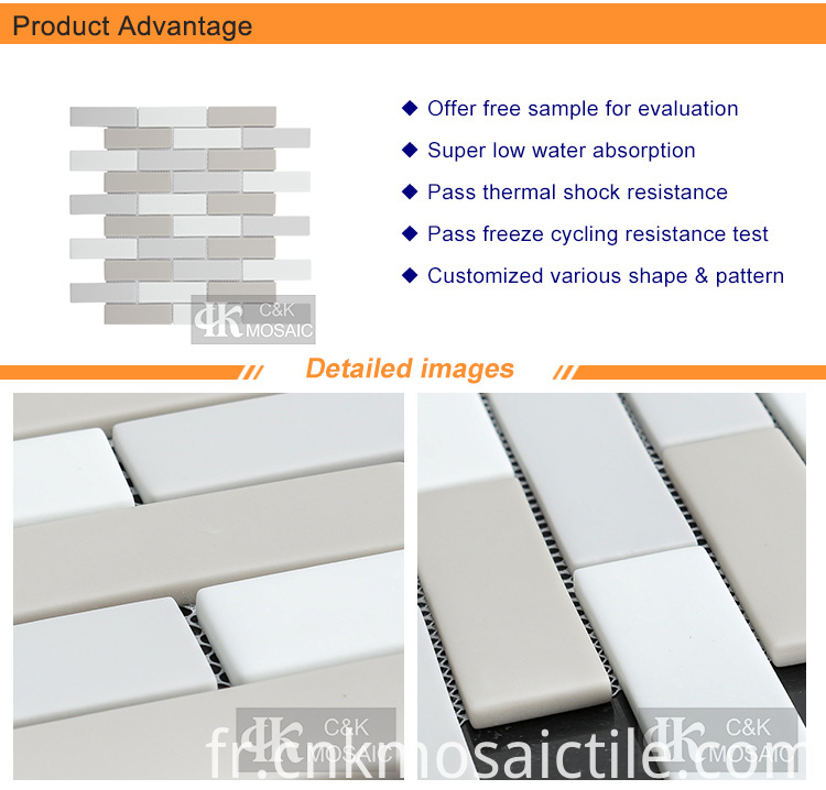 glass mosaic subway tile sheets