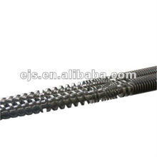 rosca de extrusora dupla para a máquina de processamento do pó de PVC