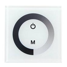 Contrôleur sensible au commutateur fixé au mur de gradateur d'écran tactile pour la lumière simple de bande de LED
