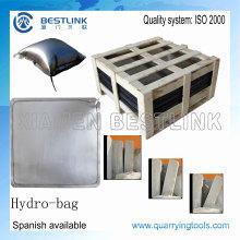 Splitting Stahl Wasserbeutel zum schieben Blöcke zu blockieren