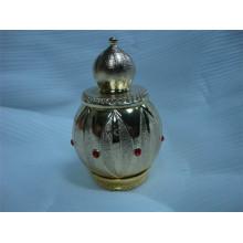 Garrafa de perfume de metal 30ml com tampa de metal dourado (MPB-13)