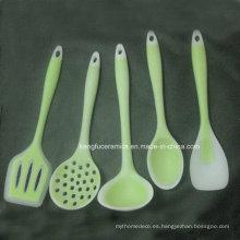 Conjunto de utensilios de cocina de silicona