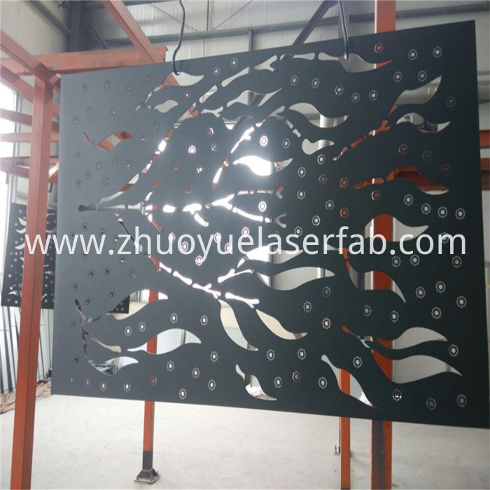 metal screen with color