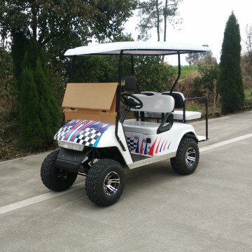 4-seat off road gas aangedreven golfcart