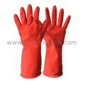 DIP Flocked Red Household Latex Glove