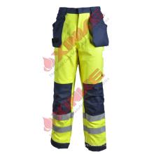 Hola vis Pantalones resistentes a la llama con cinta reflectante