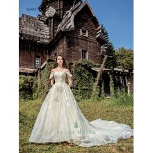 Glänzende Spitze Hochzeit Ball Kleider echte Bilder von schönen Brautkleider moderne schöne Brautkleider China