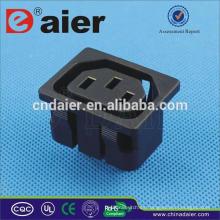 Conector de toma de corriente de 10A 250VAC / toma de corriente CA con 2Pins