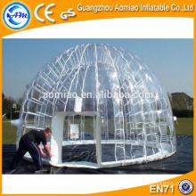 Custom feito inflável barraca de bolha de cristal camping, venda de tenda inflável chuveiro