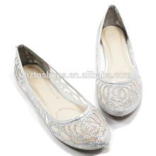 Damen-preiswerte beiläufige Schuhe Großhandelsineinander greifen-oberer flacher Arbeitsschuh