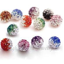 Résultats en vrac de perles de Shamballa en cristal de couleur mélangée de 6mm 8mm 10mm pour des bracelets