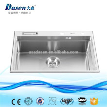 Vegetable washing basin drainer cabinet rinses sink with knife holder