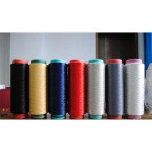 Chine filé en gros teint et filé cru de polyester usine