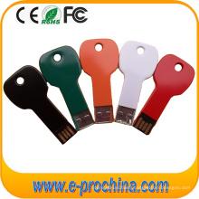 Multi Color Aluminum Key Shape USB Flash Drive with Custom Logo