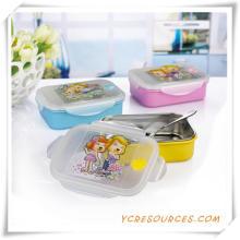 Kunststoff Edelstahl Lunch Box für Werbegeschenke (HA62018)